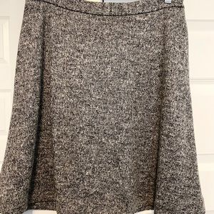 Fit & Flare Black and White Tweed Skirt W/ POCKETS